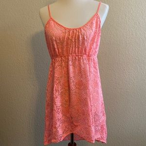❤️ Victoria's Secret Coral Lace Swim Cover-up